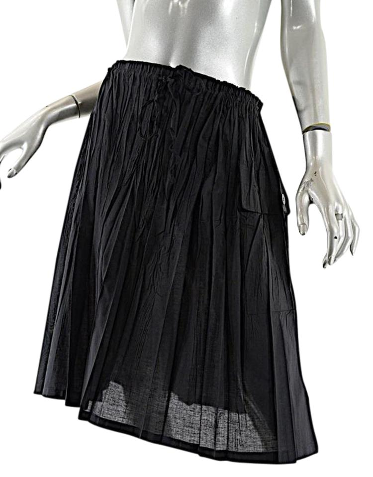 Issey Miyake Black Pleats Please Poly Cotton Blend Crinkled Pleat ... 2fb43ab4d66ef