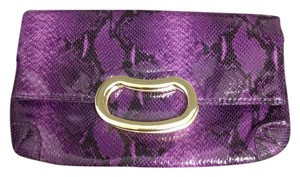 Gianni Bini Handbag Snakeskin Purple and Black Clutch
