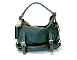 Dolce&Gabbana Miss Forever Aged Leather Vintage Leather Satchel in Dark Green