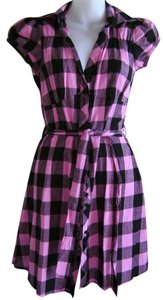 She's Cool short dress Black and Pink Check Summer on Tradesy