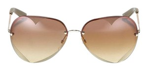 Marc by Marc Jacobs Rose-Gold Heart Aviator Frame Sunglasses