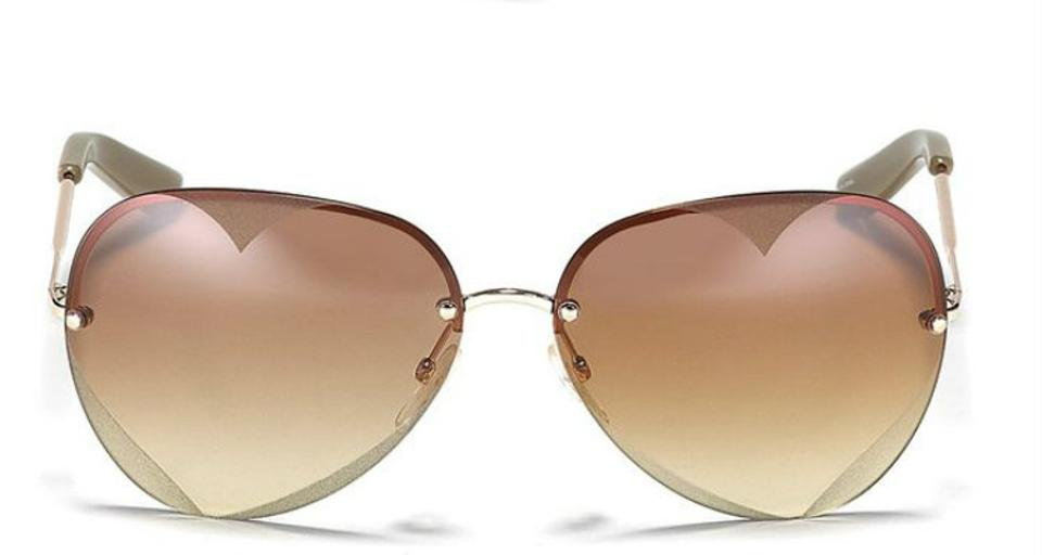 6b86ee78ebb Marc by Marc Jacobs Rose-Gold Heart Aviator Frame Sunglasses Image 3. 1234