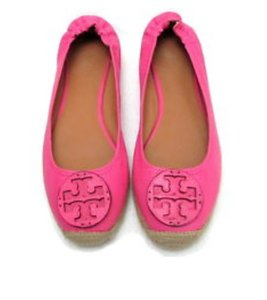 Tory Burch Leather Pink Flats