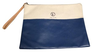 Fleabags Made In The Usa Eco Materials Never Been Worn Cream and Navy Blue Clutch