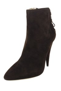 Miu Miu Women Winter Fall Suede Brown Boots