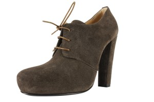 Emporio Armani Women Suede Lace Up Brown Boots