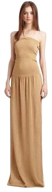 Item - Gold Sweater Long Casual Maxi Dress Size 2 (XS)