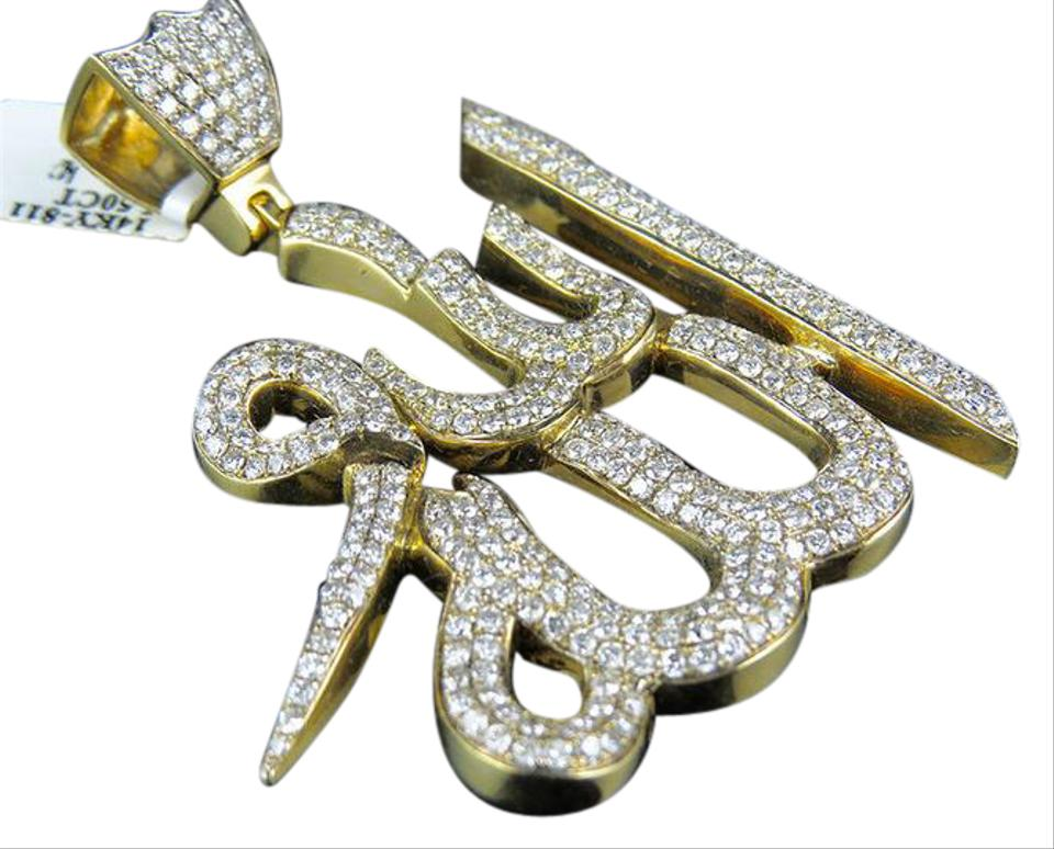 14k yellow gold custom made allah arabic islamic diamond pendant 75 other custom made allah arabic islamic diamond charm pendant 75 ct aloadofball Images