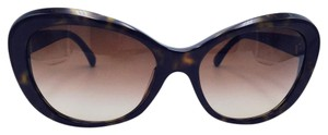 Chanel Beautiful Blooming Gold Camellia Flower Cat Eye Sunglasses 5246