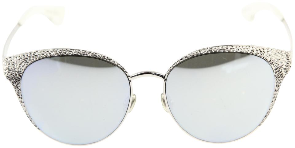 af1f3111723 Dior Silver White Unique Limited Edition Cat Eye Sunglasses - Tradesy