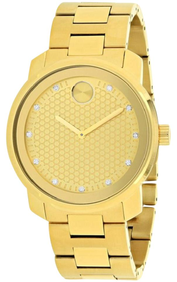 Movado Gold Tone Yellow Diamond Dial Quartz Men S Watch Tradesy