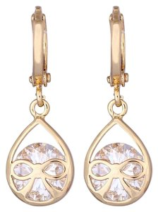 New New 14K Gold Filled Bow Cubic Zirconia Earrings J3383