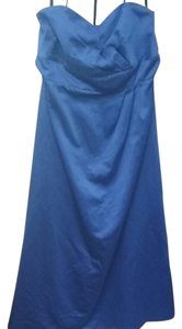 Alfred Angelo Cobalt Polyester 911174 Traditional Bridesmaid/Mob Dress Size 22 (Plus 2x)
