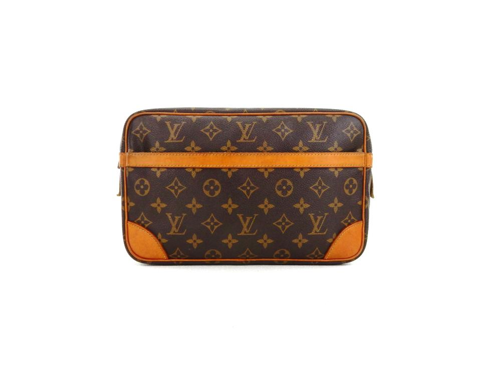 Louis Vuitton Compiegne 28 Monogram Canvas Leather Makeup Travel Dopp Bag  ... 4686be4ec660c