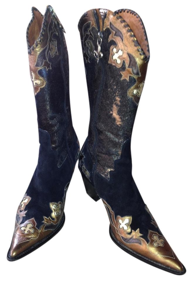 Donald J. Pliner and Black and Pliner Gold Boots/Booties e07bbf