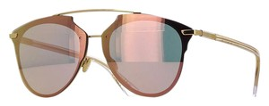 Dior Pink Reflected Gold Prism Mirrored Sunglasses S5ZRG