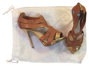 Christian Dior Tan/Gold Sandals