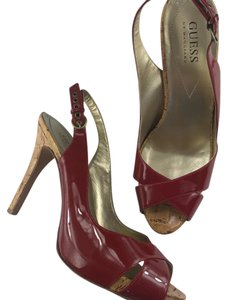 Guess By Marciano Red & Tan Platforms
