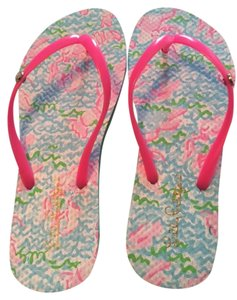 Lilly Pulitzer Pink Lobsters Sandals