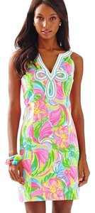 Lilly Pulitzer short dress Pink Multi Tessa Cotton Floral on Tradesy
