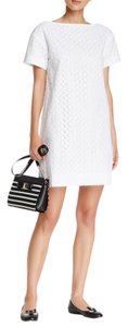 Kate Spade short dress White Shift Eyelet Lace Lace on Tradesy