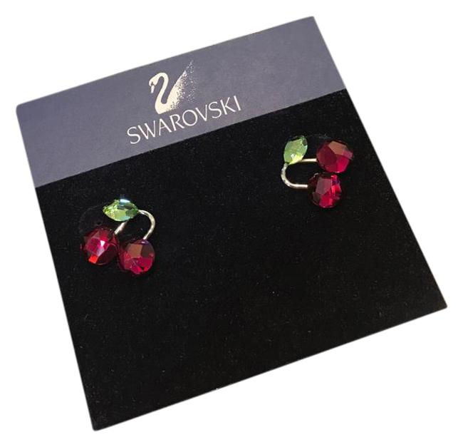 Item - Green and Red Cherry Earrings
