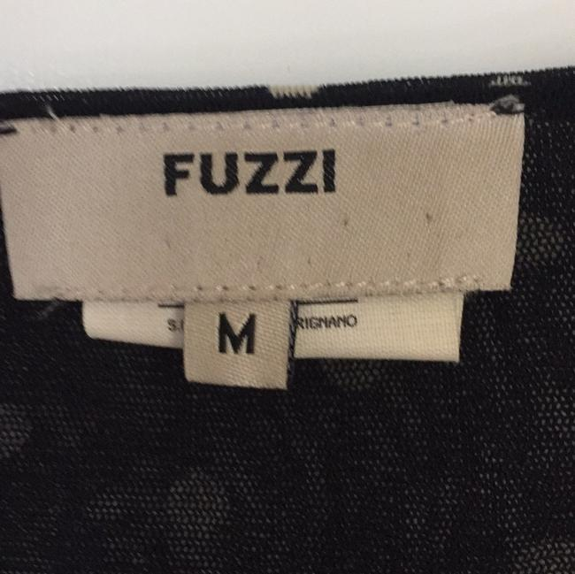 Fuzzi Button Down Shirt Black with Creme Polka Dots