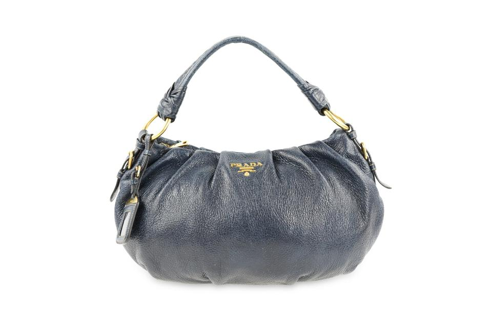 d813d17b6896 Prada Blue Leather Shoulder Bag | Stanford Center for Opportunity ...