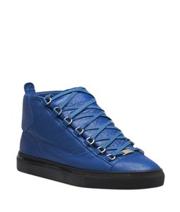 Balenciaga Sneakers Leather Blue Boots