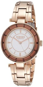 Versace NEW WOMENS VERSUS BY VERSACE (SP8210015) LOGO ROSE GOLD IP TONE WATCH