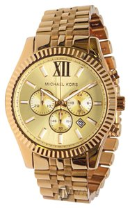 Michael Kors NEW MENS MICHAEL KORS (MK8281) OVERSIZED LEXINGTON GOLD TONE WATCH