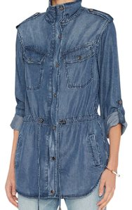 Rails Jean Snaps Zips Chambray Womens Jean Jacket