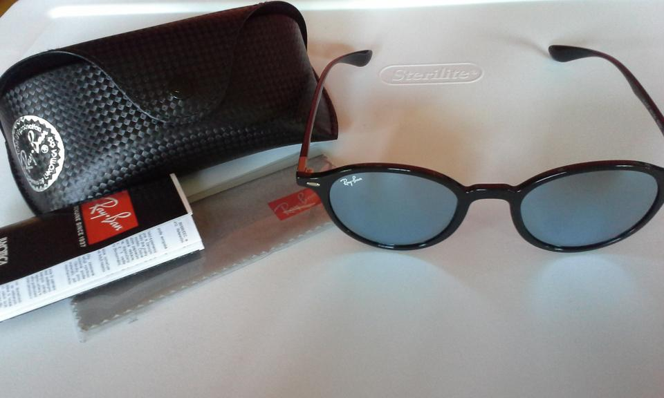 67b73eda67 ... france ray ban black silver nwot round liteforce with flash mirror lens sunglasses  tradesy ae914 e9303