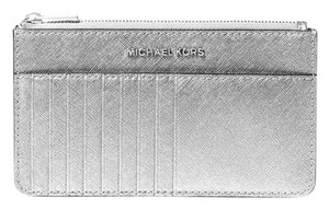 Michael Kors Michael Kors Silver Saffiano Leather Smartphone Card Case Wallet