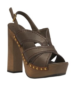 Miu Miu Leather Brown Sandals