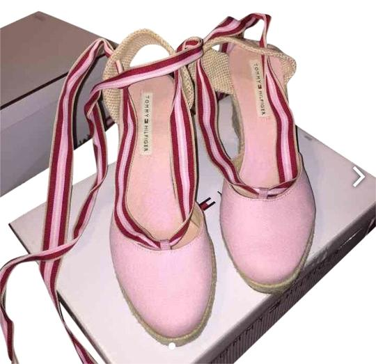Preload https://item3.tradesy.com/images/tommy-hilfiger-pink-red-and-white-wedges-2139252-0-0.jpg?width=440&height=440
