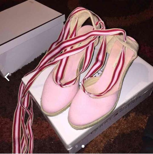 Tommy Hilfiger Pink, Red And White Wedges