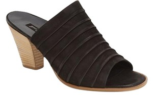 Paul Green Bootie Wedge Mules BLACK NUBUCK Sandals