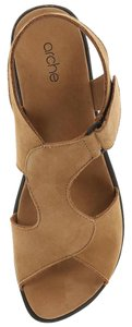 Arche Suede Wedge Nubuck Sand Sandals