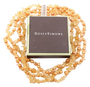 Ross-Simons Gold Pearl & Stone Necklace