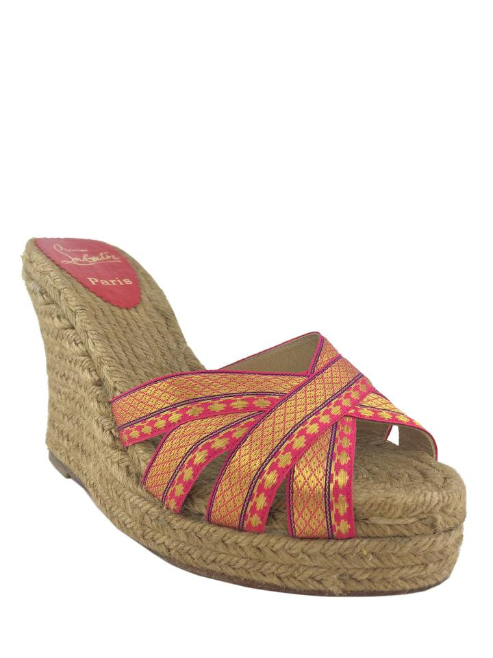 8ec5e4610533 Christian Louboutin Multicolor Cataribbon Espadrille Wedges. Size  US 9 ...