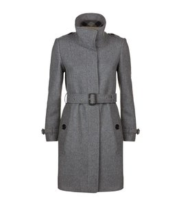 Burberry Class Wool Cashmere Leather Trench Coat
