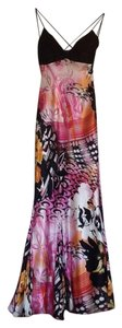 Mary L Couture Spaghetti Straps Maxi Cocktail Floral Dress