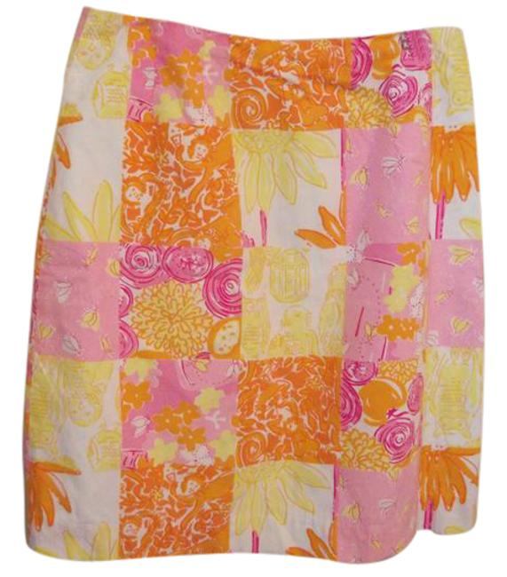 Item - Pink Orange and Yellow Skirt Size 2 (XS, 26)