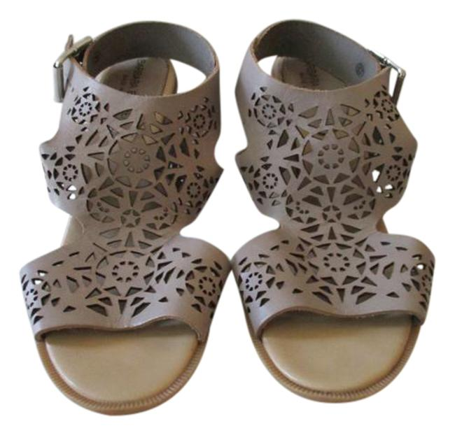 Item - Taupe Cut Out Made In Italy Sandals Size US 7 Regular (M, B)