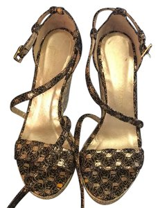 Jean-Michel Cazabat Brown-gold Wedges