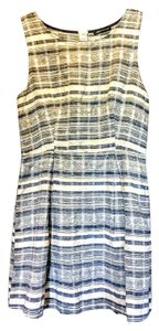 Jella Couture short dress Tan and blue on Tradesy