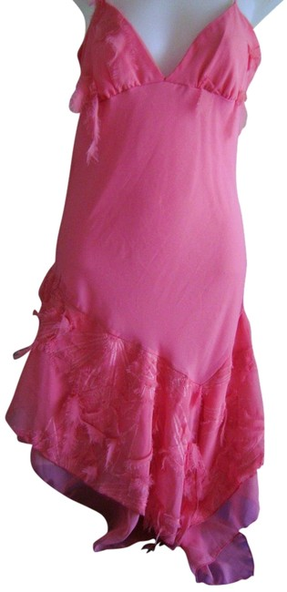 Item - Coral Party Prom Girls Night Out Date Night Mid-length Cocktail Dress Size 10 (M)