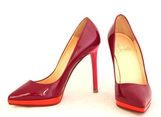 Christian Louboutin Spike Stude Ankle Boots Daffodile Pink Red Pumps Image 2