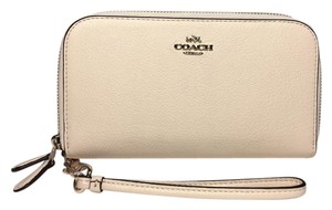 Coach BRAND NEW COACH DUEL ZIPPER GOLD HARWARE WALLET FREE 3 DAY SHIPPING